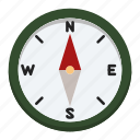 adventure, camping, compass, holiday, outdoor, sport, wild life icon