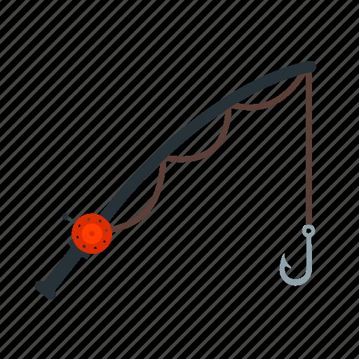 equipment, fishing, lake, nature, reel, rod, sport icon