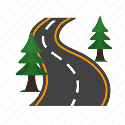 drive, highway, landscape, road, speed, summer, travel icon
