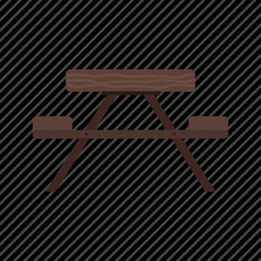 bench, forest, furniture, garden, green, park, wooden icon