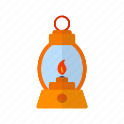 fire, gas, lamp, lantern, light, oil, old icon
