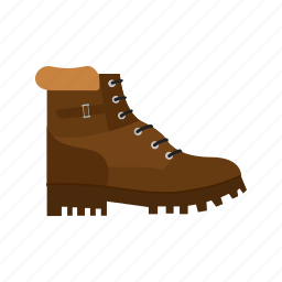 boot, boots, camp, camping, hiking, leather, walking icon