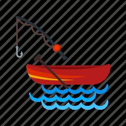 fisherman, fishing, lake, landscape, nature, river, water icon
