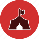 tipi, camp, tent icon