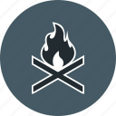 bone fire, camping, outdoor icon