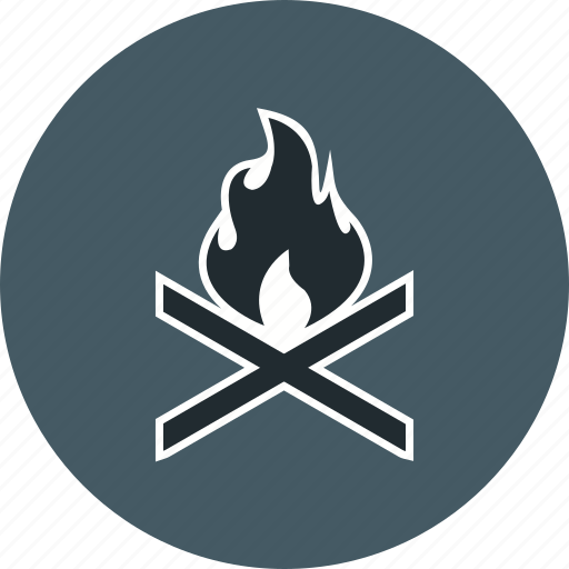 adventure, bone fire, camping, outdoor icon
