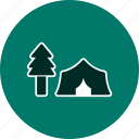 forest, tent, nature icon