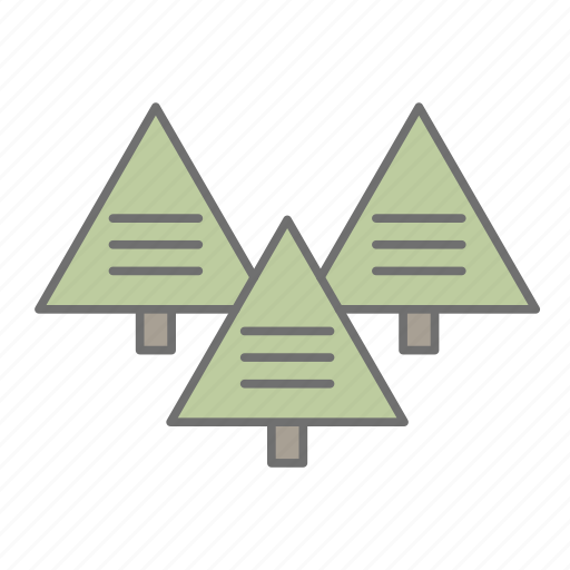 environment, forest, hiking, nature, outdoors, recreation, trees icon