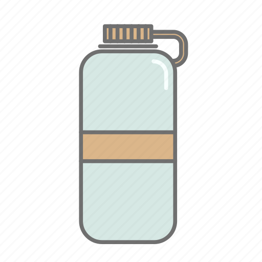 bottle, camping, drink, hiking, recreation, water, water bottle icon