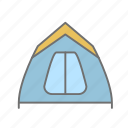 camping, camping gear, hiking, nature, outdoors, recreation, tent icon