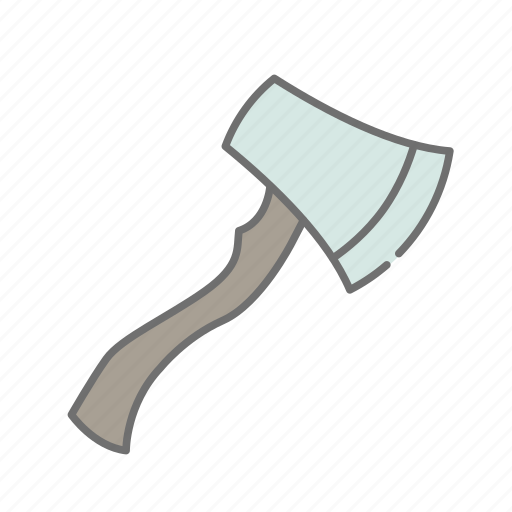 firewood, forest, hatchet, hiking, nature, outdoors, recreation icon