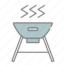 camping, cooking, food, grill, hibachi, nature, outdoors icon
