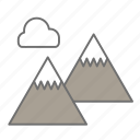 hiking, landscape, mountains, nature, outdoors, recreation, scenery icon
