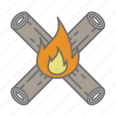camp, campfire, camping, fire, nature, outdoors, recreation icon