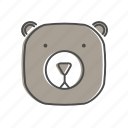 animal, bear, hiking, nature, outdoors, recreation, wildlife icon