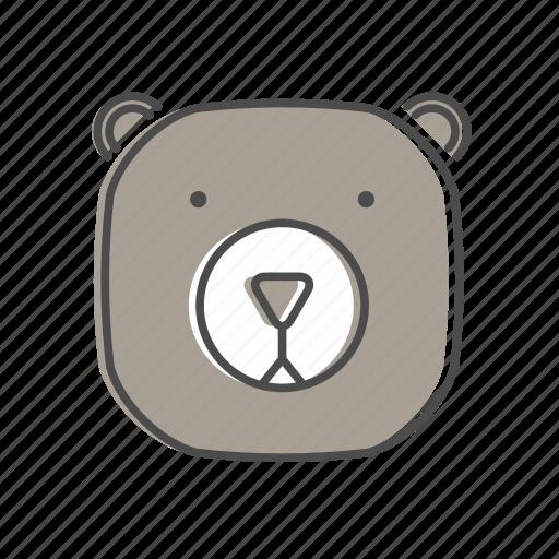 animal, bear, hiking, nature, outdoors, recreation, wildlife icon
