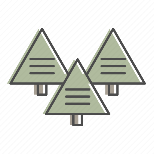 camping, forest, hiking, nature, outdoors, recreation, trees icon