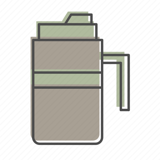 camping, coffee, hiking, nature, outdoors, recreation, thermos icon