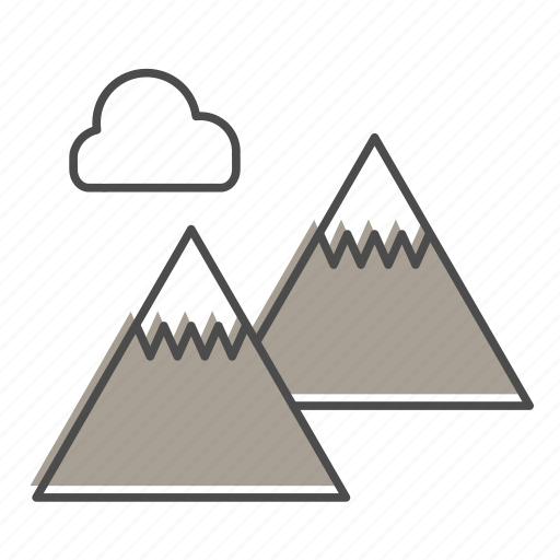 camping, hiking, mountains, nature, outdoors, recreation, trail icon