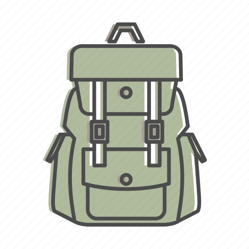 backpack, camping, hiking, nature, outdoors, recreation, rucksack icon