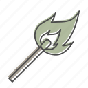 camping, fire, hiking, match, nature, outdoors, recreation icon