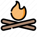 bonfire, camp, camping, fire, holiday, outdoor icon
