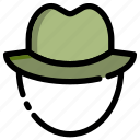 camp, camping, hat, outdoor icon