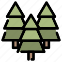 camping, forest, holiday, outdoor, pines, tree icon