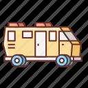 delivery, park, rv, truck icon