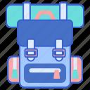 backpack, hiking, luggage, rucksack icon