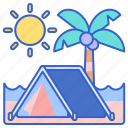 beach, camping, outdoors icon