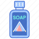 biodegradable, soap, disposable icon