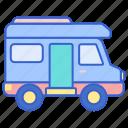 camper, caravan, van icon