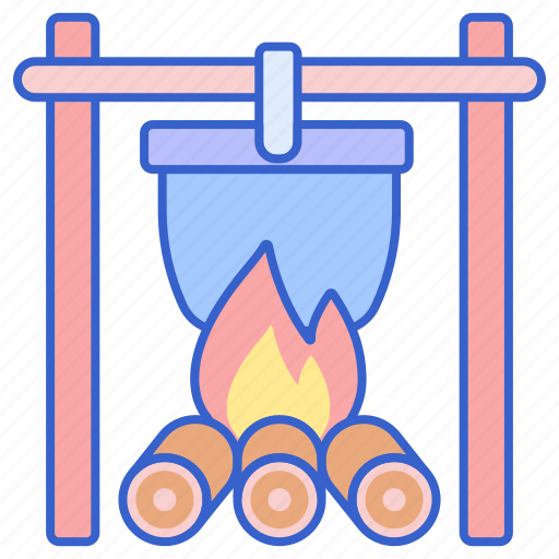 Campfire, cooking, pot icon - Download on Iconfinder