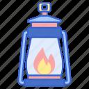 camping, lantern, light icon