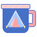 camping, mug, outdoor icon