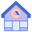 camping, shop, store icon