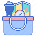 camping, necessities, supplies icon