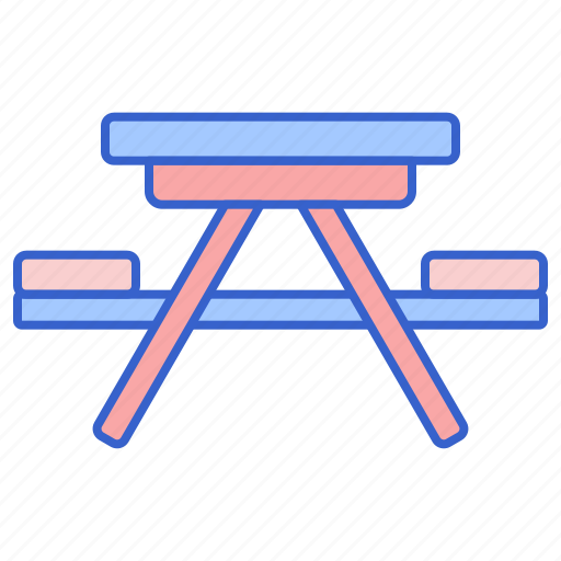 camping, outdoor, table icon