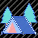 camp, campsite, tent icon