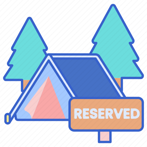 camp, campsite, reservation icon