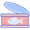 can, canned, food, tuna icon