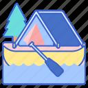 boat, camping, canoe icon