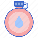 bottle, camp, canteen icon