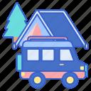camping, car, vehicle icon