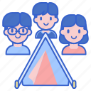 camp, family, tent icon
