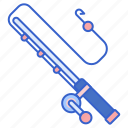 fishing, pole, rod icon