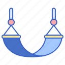 bed, camping, hammock, relaxation icon