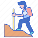 backpacking, hiking, recreation icon