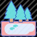 lake, nature, water icon